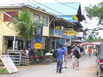 Downtown Bocas street scene