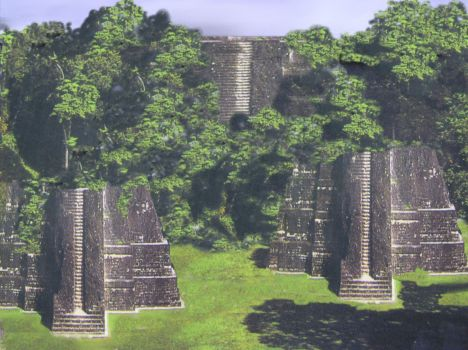 Artist rendition of Bocas Pyramids