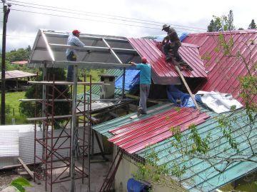 Casa Volcan in mid construction