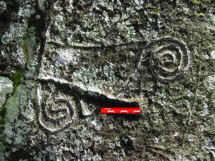 Close up of some of the Castillo markings