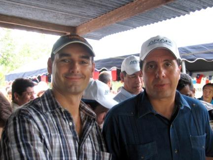 Mathew Whant and President Torrijos