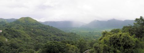 Panoramic stitch of El Valle de Anton