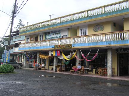 Store and cafe, central El Valle