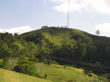 Alois Hartmann is buried on this hill in Chiriqui
