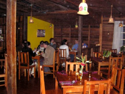 The warm cozy atmosphere has helped make this Volcan's most popular restaurant.