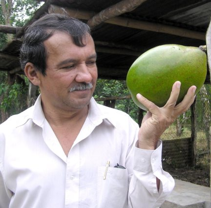 Ivan Flores with calabash fruit