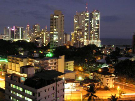 Nightime view from La Cresta hill