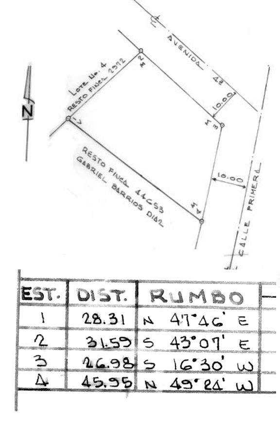 plot plan of house.