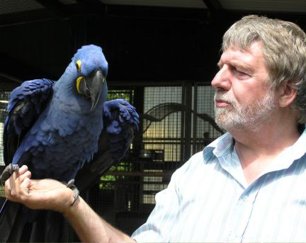 Paul Saban with one of his feathered friends