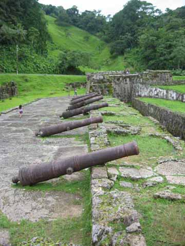 Peace came despite the guns when Spain stopped shipping its treasure across the Isthmus.