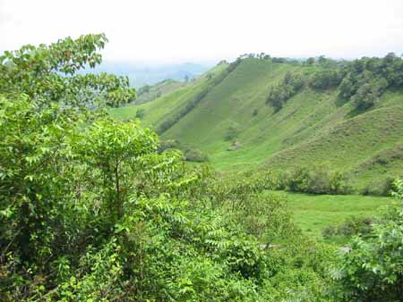 Some of the hills in the Chiriqui Highlands can be dramatic.