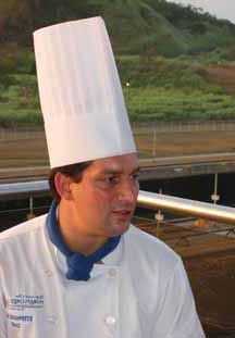 Chef Stephane Dias of the Miraflores Restaurant.