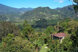 Boquete: lush hills and varied scenery.