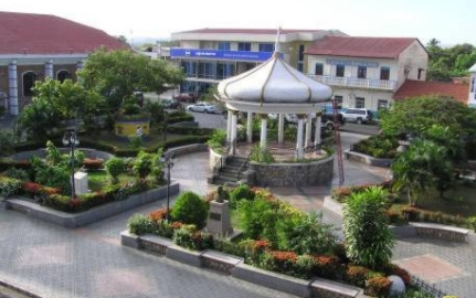Chitre's town square, neat and clean
