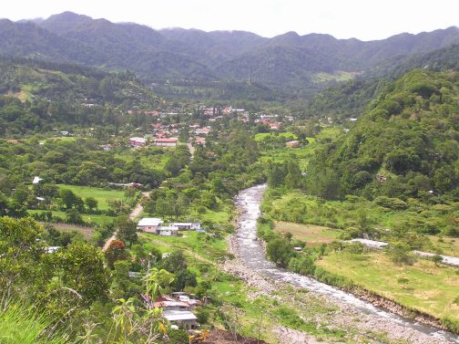 View up valley to Boquete