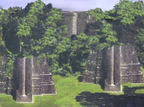 Artist rendition of Bocas Pyramids