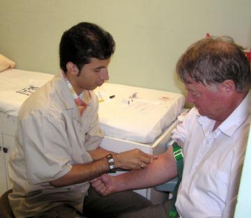 First step a blood test
