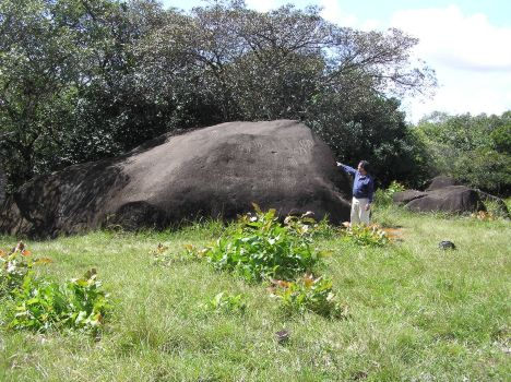 large stone located in the village of Caldera south of Boquete, Chiriqui