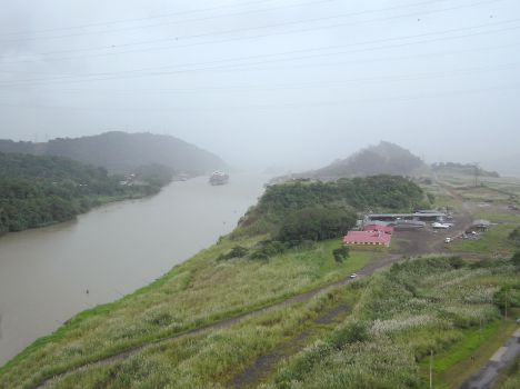 Culebra Cut looking south to Pedro Miguel locks