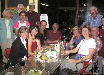 Expats at Dalys's restaurant.