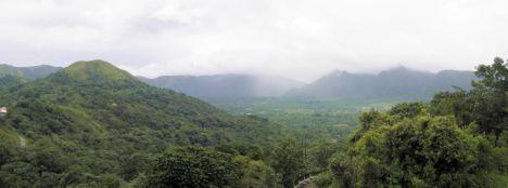 Panoramic stitch of El Valle de Anton