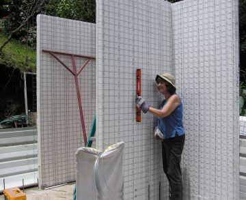 These panels can be easily erected by a husband and wife team