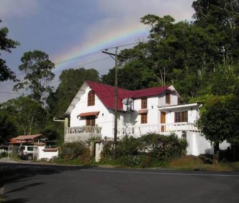 Exterior with genuine rainbow