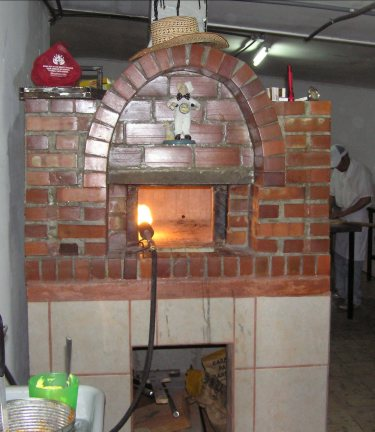 The gas fired brick oven makes all the difference