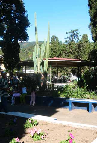 Bandstand in Boquete's town square.
