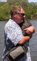 David Dell and small furry passenger.