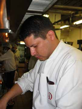 Chef Carrillo's domain covers three floors in the Radisson Decapolis.