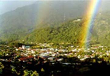 Glorious rainbows appear nearly every day in Boquete.