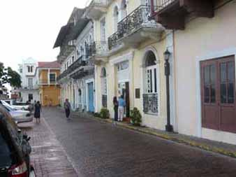 One of the restored streets in Casco Viejo.