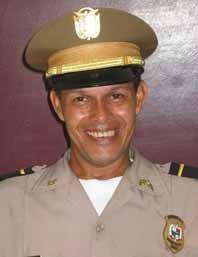 In new police uniform
