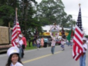 U.S. flags lead National Flag Day parade in Panama.